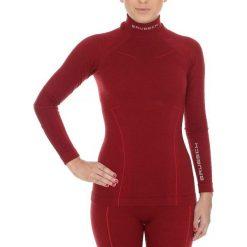 Bluzy damskie: Brubeck Bluza damska Wool burgundowa r.XL (LS11930)