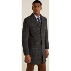 Mango Man - Płaszcz Utahviso. Brązowe płaszcze na zamek męskie marki Cropp, na zimę, l, sportowe. Za 549,90 zł.