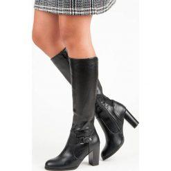 Buty zimowe damskie: WYGODNE KOZAKI NA OBCASIE