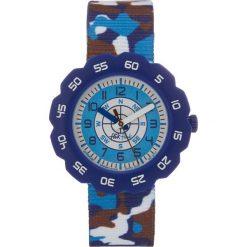 Flik Flak OVER MISSION Zegarek blue. Czarne zegarki męskie marki Strategia. Za 159,00 zł.