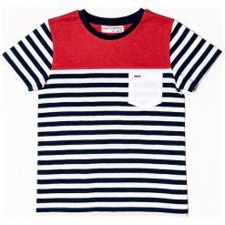 Minoti T-Shirt W Paski Dla Chłopców 68 - 80 Niebieski. Niebieskie t-shirty chłopięce MINOTI, w paski. Za 39,00 zł.