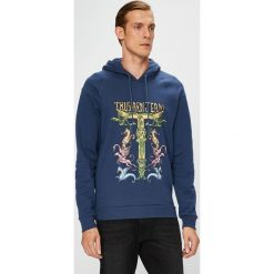 Trussardi Jeans - Bluza. Szare bluzy męskie rozpinane marki Trussardi Jeans, l, z nadrukiem, z bawełny, z kapturem. W wyprzedaży za 379,90 zł.