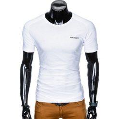 T-SHIRT MĘSKI Z NADRUKIEM S960 - BIAŁY. Białe t-shirty męskie z nadrukiem Ombre Clothing, m. Za 19,99 zł.