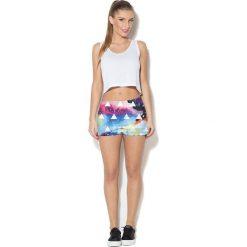 Colour Pleasure Spodnie damskie CP-020 67 niebiesko-fioletowo-czarno-żółte r. XXXL-XXXXL. Fioletowe spodnie sportowe damskie marki Colour pleasure, uniwersalny. Za 72,34 zł.