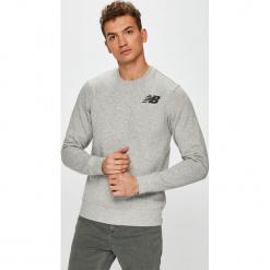 New Balance - Bluza. Szare bluzy męskie rozpinane New Balance, l, z nadrukiem, z bawełny, bez kaptura. W wyprzedaży za 169,90 zł.