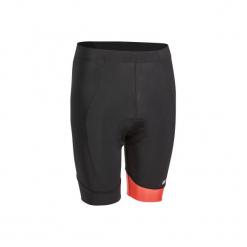 Spodenki na rower 500 męskie. Czarne odzież rowerowa męska marki ROCKRIDER, z elastanu, sportowe. Za 69,99 zł.