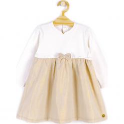 Sukienka. Żółte sukienki dziewczęce wizytowe ELEGANT BABY GIRL, z bawełny, z długim rękawem, długie. Za 69,90 zł.