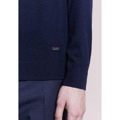 Armani Collezioni Sweter dunkelblau. Niebieskie swetry klasyczne męskie marki Armani Collezioni, m, z materiału. W wyprzedaży za 573,30 zł.