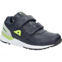Granatowe buty sportowe na rzepy American C3759. Szare buciki niemowlęce American, na rzepy. Za 69,99 zł.