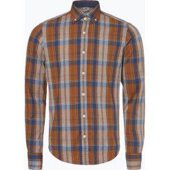 DENIM by Nils Sundström - Koszula męska, pomarańczowy. Brązowe koszule męskie marki FORCLAZ, m, z materiału, z długim rękawem. Za 129,95 zł.