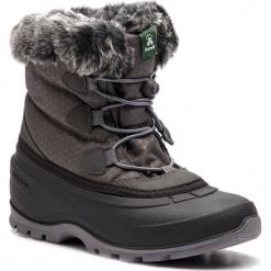 Śniegowce KAMIK - Momentumlo NK2179 Charcoal. Szare buty zimowe damskie Kamik, z materiału. W wyprzedaży za 279,00 zł.
