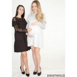 Sukienki ciążowe: Sukienka ciążowa i do karmienia Koronkowa Szara