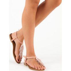 HAVEN ozdobne sandały japonki. Czerwone sandały damskie comer. Za 49,99 zł.