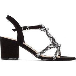 Rzymianki damskie: Sandały z paskami ze sznurka
