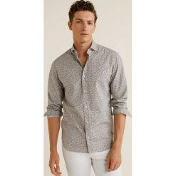 Mango Man - Koszula Bobal3. Szare koszule męskie na spinki Mango Man, l, z bawełny, z klasycznym kołnierzykiem, z długim rękawem. W wyprzedaży za 139,90 zł.