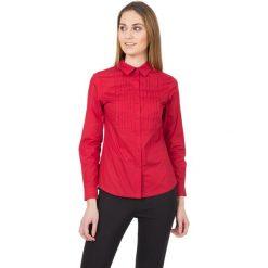 Koszule body: Czerwona koszula z kołnierzykiem i długim rękawem  BIALCON