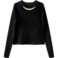 Swetry damskie: Sweter z okrągłym dekoltem, z fantazyjnymi koralikami