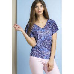Bluzki damskie: Bluzka z geometrycznym wzorem