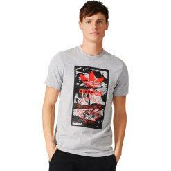 Adidas Koszulka TONGUE LABEL szara r. S (BS3304). Szare koszulki sportowe męskie marki Adidas, m. Za 116,59 zł.