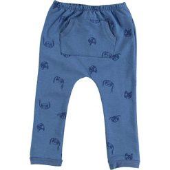 Spodnie niemowlęce: Spodnie dresowe w kolorze niebieskim