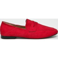 Answear - Mokasyny Lily Shoes. Czerwone mokasyny damskie ANSWEAR, z gumy. W wyprzedaży za 79,90 zł.