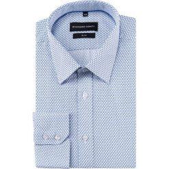 Koszula SIMONE KDWS000291. Niebieskie koszule męskie na spinki marki Giacomo Conti, m, w kratkę, z bawełny, z klasycznym kołnierzykiem. Za 169,00 zł.