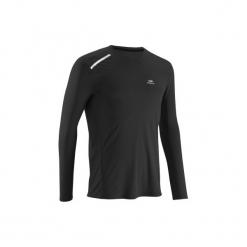 Koszulka do biegania SUN PROTECT męska. Czarne koszulki do biegania męskie marki KALENJI, m, z elastanu, z krótkim rękawem. Za 29,99 zł.