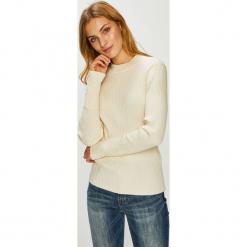 Vero Moda - Sweter. Niebieskie swetry klasyczne damskie marki Vero Moda, z bawełny. Za 129,90 zł.