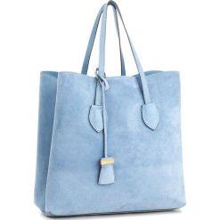 Torebka COCCINELLE - BH6 Celene Suede E1 BH6 11 01 01 Azur/Azur 021. Brązowe torebki klasyczne damskie marki Coccinelle, ze skóry. W wyprzedaży za 979,00 zł.