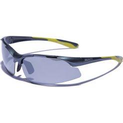 """Okulary przeciwsłoneczne męskie: Okulary męskie """"Hico 2"""" w kolorze antracytowo-żółto-szarym"""