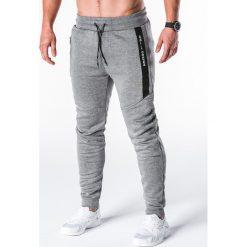 SPODNIE MĘSKIE DRESOWE P656 - GRAFITOWE. Szare spodnie dresowe męskie marki Ombre Clothing, z bawełny. Za 55,00 zł.