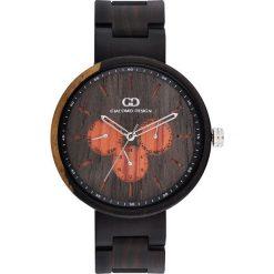 Zegarek Giacomo Design Drewniany męski GD08103. Czarne zegarki męskie Giacomo Design. Za 599,00 zł.