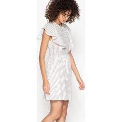 Sukienki hiszpanki: Sukienka w paski, z falbanami CANIA