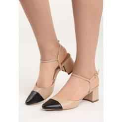 Beżowe Sandały Naris. Czerwone sandały damskie na słupku marki Reserved, na niskim obcasie. Za 59,99 zł.