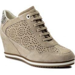 Sneakersy GEOX - D Illusion B D8254B 00022 CH65A Lt Taupe/Beige. Brązowe sneakersy damskie Geox, ze skóry ekologicznej. W wyprzedaży za 369,00 zł.