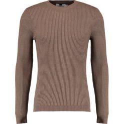 Swetry klasyczne męskie: Topman MINK MUSCLE CREW Sweter taupe/beige