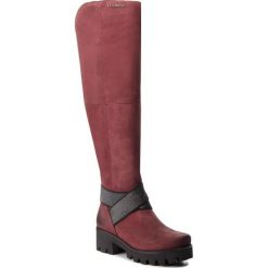Muszkieterki EVA MINGE - Perpetua AD 18SM1372510EF 434. Czerwone buty zimowe damskie Eva Minge, z nubiku, na obcasie. W wyprzedaży za 499,00 zł.