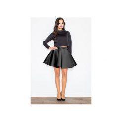 Spódnica M340 Czarny. Czarne minispódniczki marki FIGL, m, rozkloszowane. Za 119,00 zł.