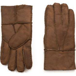 Rękawiczki męskie: Art of Polo Męskie rękawiczki skórzane Kożuchowe brązowe (rk16571)