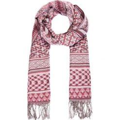Apaszki damskie: Różowa apaszka we wzory QUIOSQUE