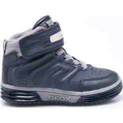 Geox - Buty dziecięce. Szare buty sportowe chłopięce Geox, z gumy, z okrągłym noskiem, na sznurówki. W wyprzedaży za 199,90 zł.