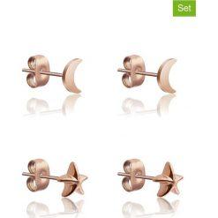 Kolczyki damskie: Kolczyki-wkrętki (2 pary)