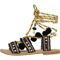"""Sandały damskie: Skórzane sandały """"Takiri"""" w kolorze czarnym"""