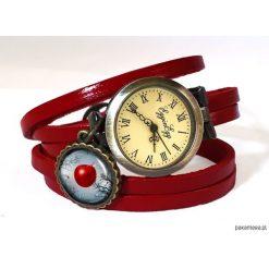 Skórzany zegarek Zakazany owoc - 0734. Szare zegarki damskie Pakamera. Za 120,00 zł.