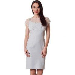 Sukienki hiszpanki: Sukienka w kolorze szaro-srebrnym