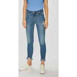 Only - Jeansy Tisha. Niebieskie jeansy damskie rurki ONLY, z bawełny. Za 129,90 zł.