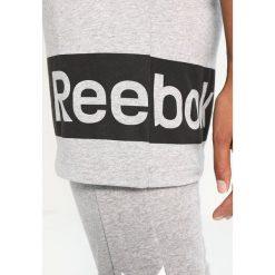 Reebok WOR Tshirt z nadrukiem medium grey heather. Szare topy sportowe damskie marki Reebok, xs, z nadrukiem, z bawełny. W wyprzedaży za 135,15 zł.