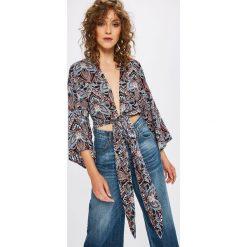Answear - Koszula Boho Bandit. Szare koszule wiązane damskie marki ANSWEAR, l, z materiału, boho, z długim rękawem. W wyprzedaży za 49,90 zł.