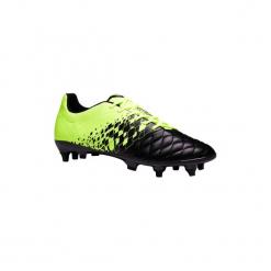 Buty do piłki nożnej Agility 500 SG korki na miękką nawierzchnię. Czarne buty skate męskie marki KIPSTA, m, z elastanu, z długim rękawem, na fitness i siłownię. Za 129,99 zł.