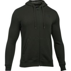 Bejsbolówki męskie: Under Armour Bluza męska Rival Fleece Fitted Full Zip Hoodie zielona r. XS (1302290-357)